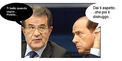 Berlusconi VS Prodi, la sfida